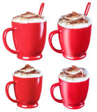 Coffee cappuccino chocolate chip , isolate on a white background Royalty Free Stock Photography