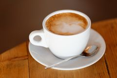Coffee. Cappuccino. Cup of Cappuccino Stock Image