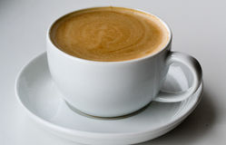 Coffee cappuccino cup on a white background Royalty Free Stock Photos