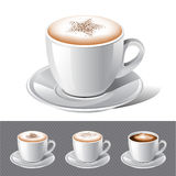 Coffee - cappuccino ,espresso ,latte , mocha Royalty Free Stock Photography