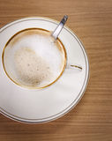 Coffee Cappuccino or Latte. Over white Royalty Free Stock Images