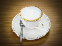 Coffee Cappuccino or Latte. Over white Royalty Free Stock Photography
