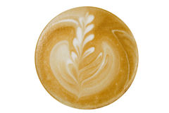 Coffee cappuccino, top view Royalty Free Stock Images