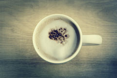 Coffee Cappuccino In A White Cup Royalty Free Stock Photography