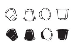 Coffee capsule icon - vector illustration. Stock Images
