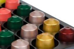 Coffee capsules Stock Photo