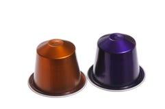 Coffee capsules Stock Photos