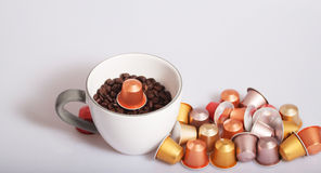 Coffee capsules royalty free stock images