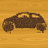 Coffee car generated texture background Stock Photo