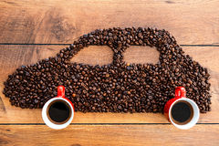 Coffee car. Royalty Free Stock Image