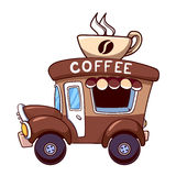 Coffee car on a white background Royalty Free Stock Image