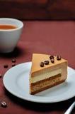 Coffee caramel cream brulee mousse cake Stock Image