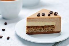 Coffee caramel cream brulee mousse cake Royalty Free Stock Photos