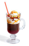 Coffee with caramel and ice cream Royalty Free Stock Photography
