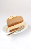 Coffee and Caramel Mousse Cake Stock Photos