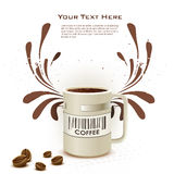 Coffee card Royalty Free Stock Photos