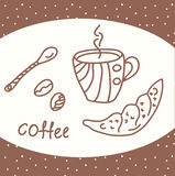Coffee card with beans Stock Photography