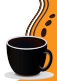 Coffee Card With Coffee Cup_eps. Illustration of coffee and beans Royalty Free Stock Images