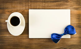 Coffee and card Royalty Free Stock Images