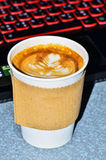 Coffee in cardboard cup. For drink Royalty Free Stock Photos