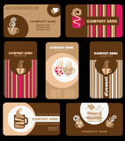 Coffee cards Stock Images