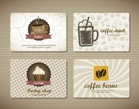 Coffee Cards Royalty Free Stock Images