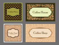 Coffee cards collection. Stock Photo