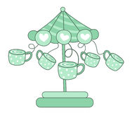 Coffee carousel vector Royalty Free Stock Photo