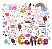 Coffee cartoon illustration Royalty Free Stock Photo