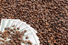 Coffee and Cash Stock Image