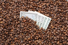 Coffee and Cash Stock Photo