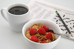 Coffee and Cereal royalty free stock image