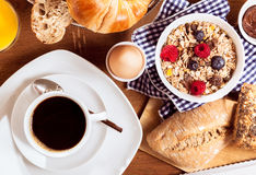 Coffee and cereal breakfast Royalty Free Stock Photography