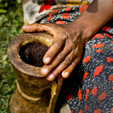 Coffee ceremony in Africa Stock Photography