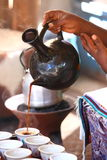 Coffee. Traditional coffee ceremony being performed in Ethiopia Royalty Free Stock Photography