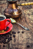Coffee and cezve Royalty Free Stock Photography