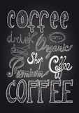 Coffee chalkboard illustration Royalty Free Stock Photo
