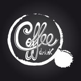 Coffee chalkboard illustration Royalty Free Stock Photos