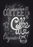 Coffee chalkboard illustration Stock Images