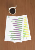 Coffee & Chart Stock Photos