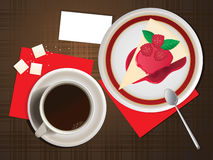 Coffee and cheesecake. Royalty Free Stock Photo