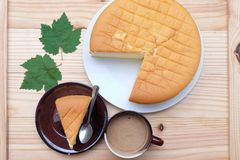 Coffee and cheesecake Royalty Free Stock Photo