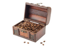 Coffee in the chest Royalty Free Stock Image