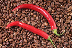 Coffee and Chili Stock Image