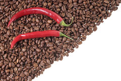 Coffee and Chili Stock Photos