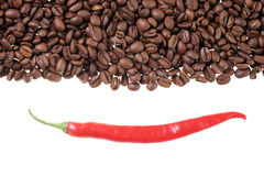 Coffee and Chili Royalty Free Stock Photography