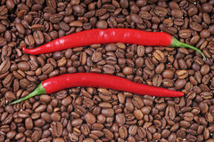 Coffee and Chili Royalty Free Stock Image