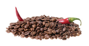 Coffee and Chili Royalty Free Stock Photos