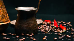 Coffee and chili Royalty Free Stock Photo