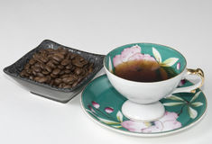 Coffee in china cup Stock Image